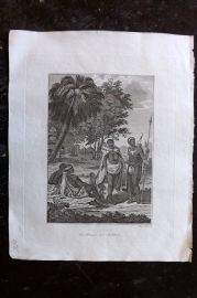 Cooke 1801 Antique Print. Hottentot Men, Women and Children. South Africa